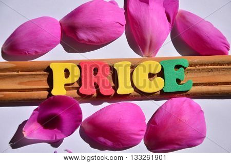 PRICE WORD ON A  ABSTRACT COLORFUL BACKGROUND