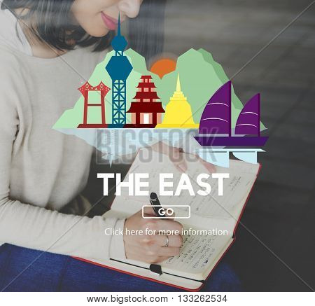 East Cartography Continent Culture Direction Concept