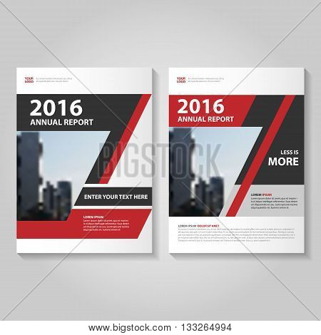 Red Black Vector annual report Leaflet Brochure Flyer template design, book cover layout design, Abstract blue presentation templates