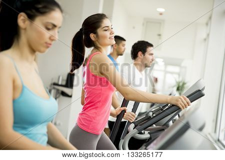 Woman Training In The Gym