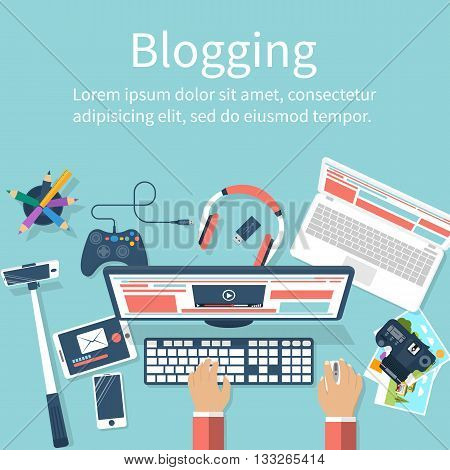 Concept Blogging Vector