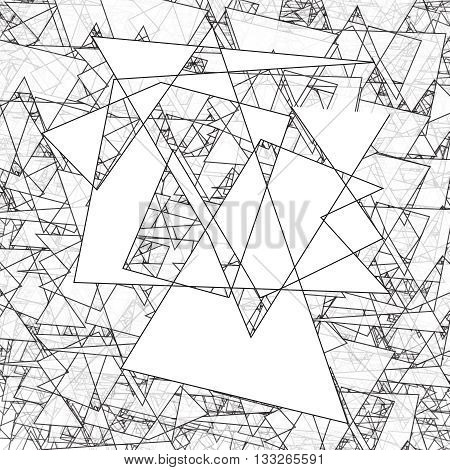 Geometric simple black and white minimalistic pattern, triangles. Can be used as wallpaper, background or texture