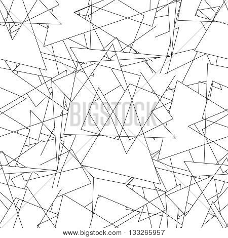 Geometric seamless simple black and white minimalistic pattern, triangles. Can be used as wallpaper, background or texture.