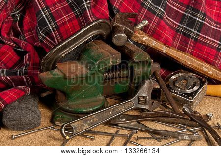 Workshop tools in a still life photo