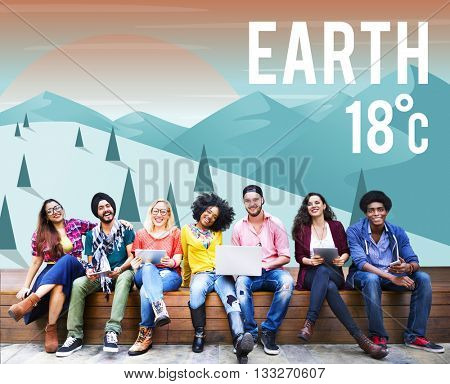 Earth Climate Ecology Environmental Conservation Concept
