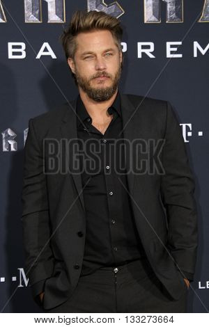 LOS ANGELES - JUN 6:  Travis Fimmel at the Warcraft Global Premiere at TCL Chinese Theater IMAX on June 6, 2016 in Los Angeles, CA