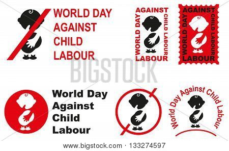 World day against child labour. Illustration in vector format