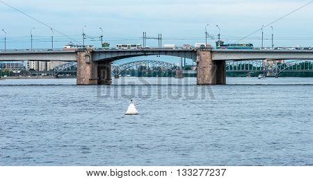 Wideview Of Alexander Nevsky Bridge