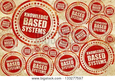 knowledge based systems, red stamp on a grunge paper texture