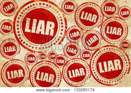 liar, red stamp on a grunge paper texture