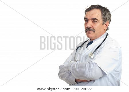 Mature Doctor Man With  Copy Space
