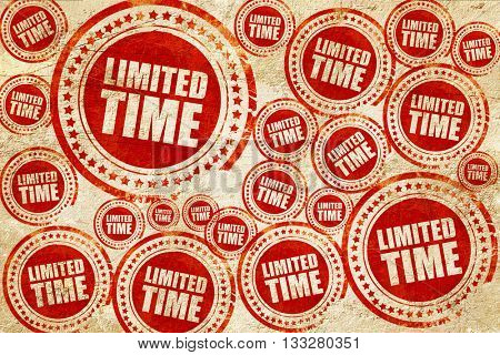 limited time, red stamp on a grunge paper texture
