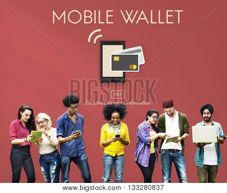 Online Banking Mobile Wallet E-banking Concept
