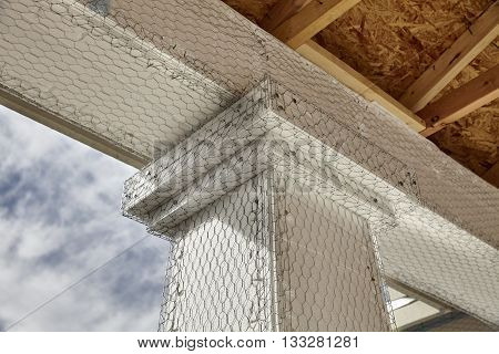 Home Building Industry House Beam To Column Stucco Mesh Detail