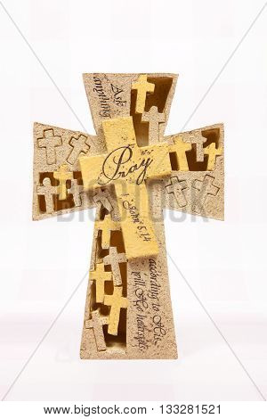 A pray cross decoration for the Easter holiday