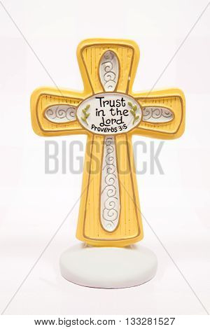 A cross decoration for the Easter holiday