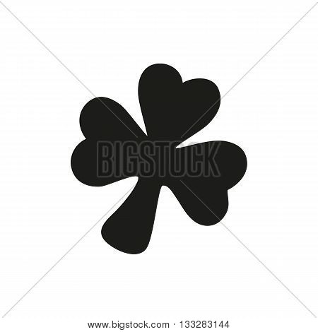 Simple black Icon of three leaf clover style or design. Clover Icon Vector. Clover Icon Object. Clover Icon Picture. Clover Icon Graphic. Clover Icon Art. On a white background
