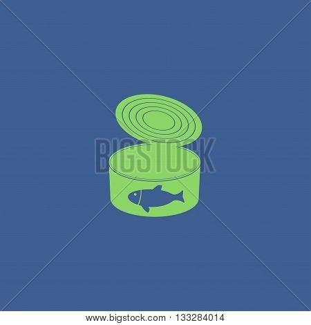 Cans - Canned Food. Vector Concept Illustration For Design