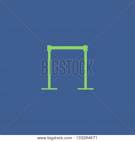 Barricade Icon. Vector Concept Illustration For Design