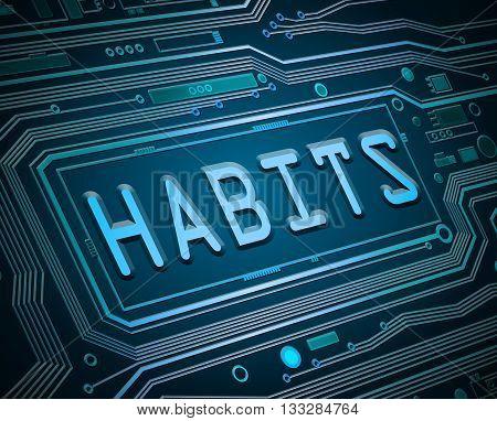 Habits Tech Concept.