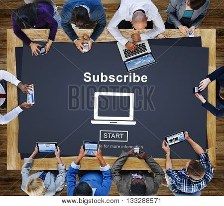 Subscribe Advertising Marketing Membership Concept