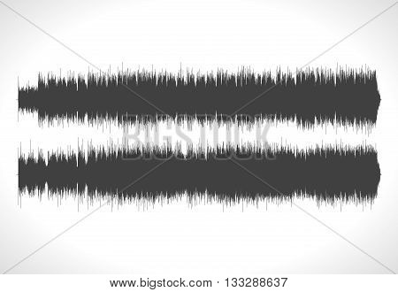 HQ Vector sound waves. Music waveform background. You can use in club, radio, pub, DJ show, party, concerts, recitals or the audio technology advertising background.