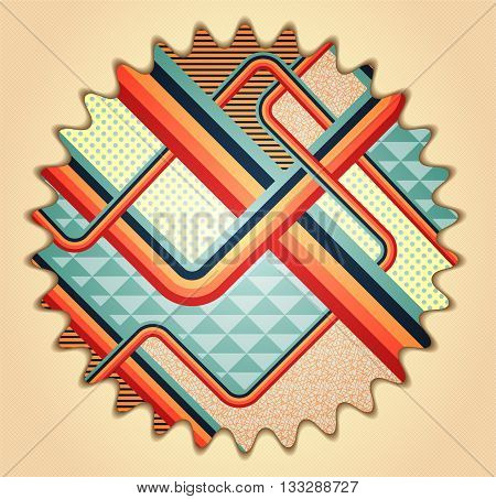 Retro stile abstract background. Illustration 10 version