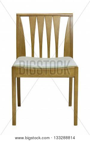 Wooden Chair Isolated On White With Clipping Path