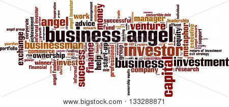 Business angel word cloud concept. Vector illustration
