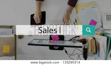 Sales Selling Revenue Profit Margin Costs Commerce Concept