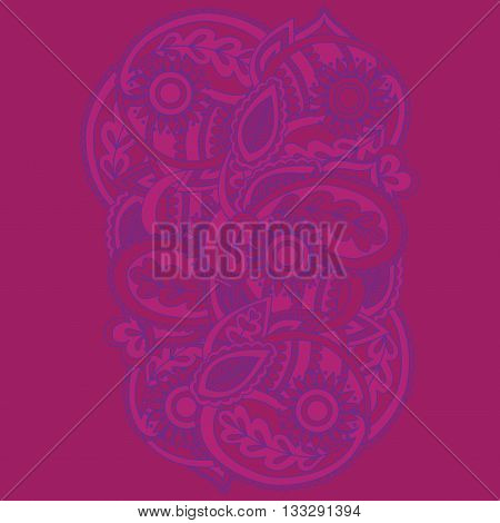 Henna Mehndi Card Template. Mehndi invitation design Element for decoration cards floral line art Paisley ornament