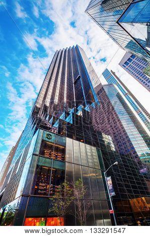 Trump Tower In Manhattan, Nyc