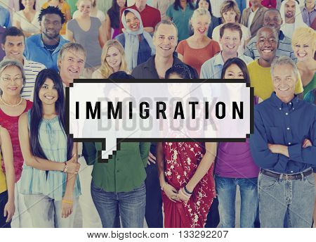 Immigration Foreigners Government Group Concept