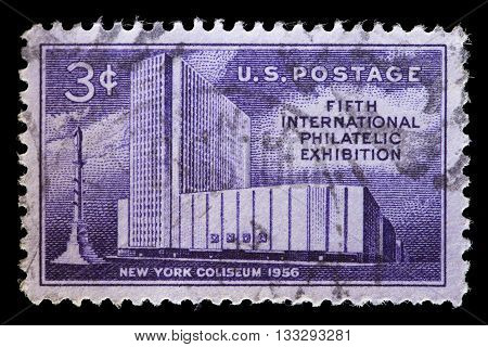 Usa Used Postage Stamp For The Fifth International Philatelic Exhibition