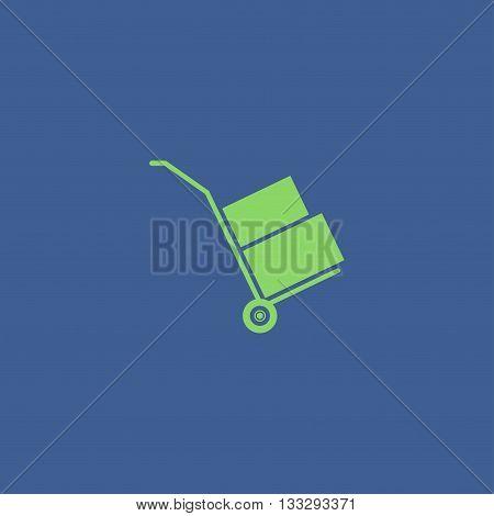 Wheelbarrow For Transportation Of Cargo, Web Icon.
