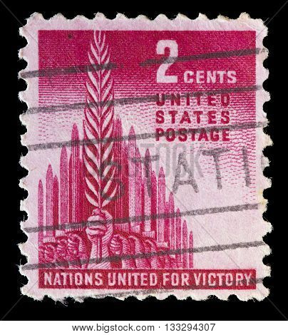 Usa Used Postage Stamp Representing The Battle Of Allied Forces