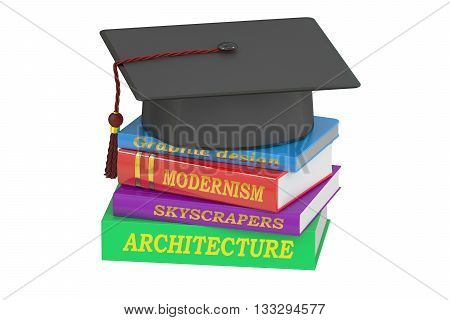 architecture education 3D rendering on white background