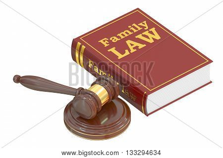 Family Law concept 3D rendering isolated on white background