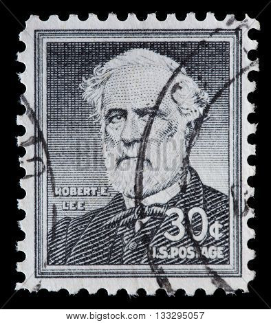 United States Used Postage Stamp Showing General Robert Edward Lee