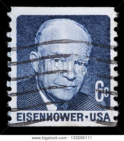 United States Used Postage Stamp Showing President Dwight D. Eisenhower