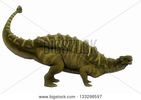Talarurus Side Profile 3D Illustration - Talarurus was a herbivorous armored dinosaur that lived in the Cretaceous Period of Mongolia.