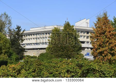 Zelenograd, Russia - September 16.2015. Prefecture of a Zelenograd Administrative District
