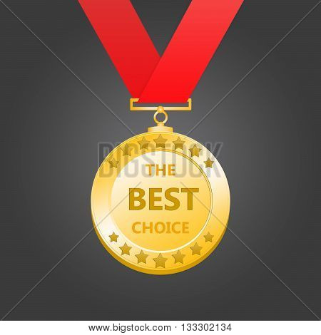 3D rendering gold medal- the best choice