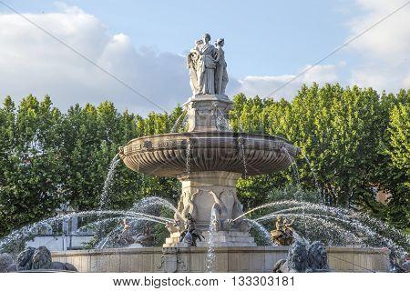 The Fontaine De La Rotonde Fountain