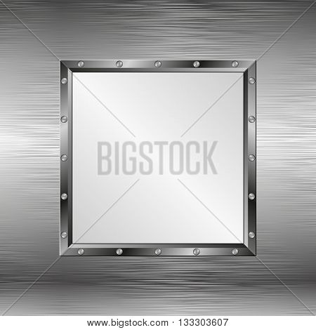 steel texture with metal\ frame - vector illustration