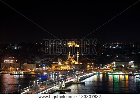 The view from Galata Tower, Istanbul Turkey