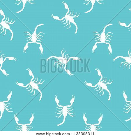 Large Scorpion Silhouette Seamless Pattern Background Vector Illustration EPS10