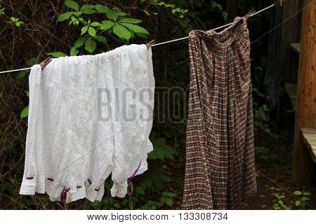 Laundry drying outside, like in the old days