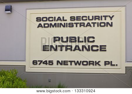 Public Entrance of Local Social Security Office