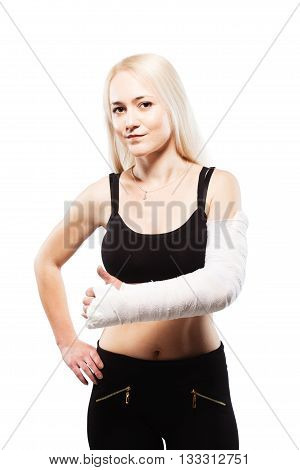 Girl With A Broken Arm Making Like Gesture